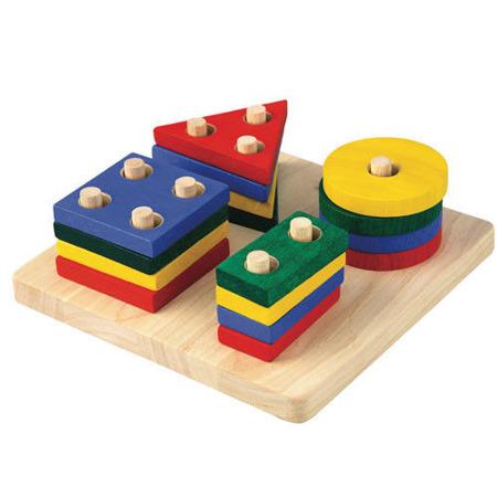 Sorter kształtów - układanka z figurami geometrycznymi, Plan Toys