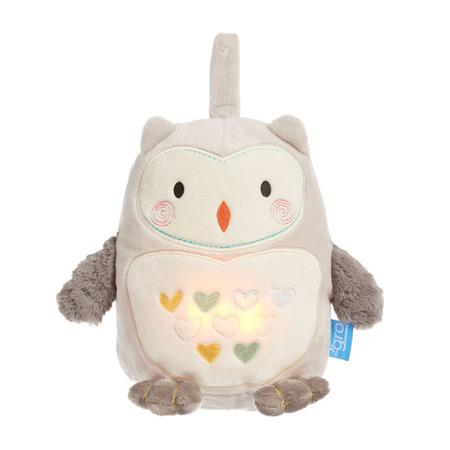 Szumiąca Przytulanka z czujnikiem płaczu i lampką nocną - białe szumy dla dziecka, Sowa Ollie Gro Company