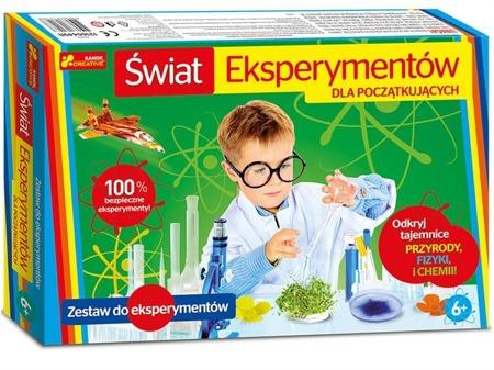Świat eksperymentów dla początkujących - zestaw eksperymentów chemicznych dla dzieci, RANOK-CREATIVE