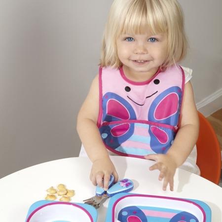 Sztućce dla dzieci ze stali nierdzewnej - zestaw widelec i łyżeczka, Zoo Motyl, SKIP HOP