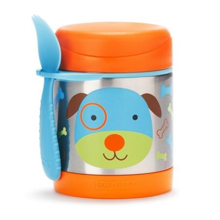 Termos na jedzenie dla dzieci - pojemnik termiczny trzymający ciepło i zimno, Zoo Pies, SKIP HOP