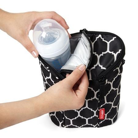 Termotorba na butelki do mleka, na butelki z piciem dla dziecka - pokrowiec Onyx, SKIP HOP