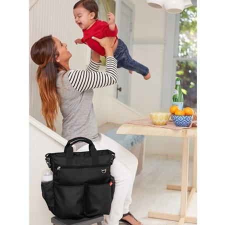 Torba do wózka Duo Signature Black - pojemna torba dla mamy na akcesoria niemowlęce, SKIP HOP
