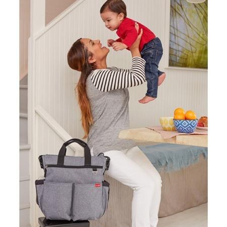 Torba do wózka Duo Signature Heather Grey - pojemna torba dla mamy na akcesoria niemowlęce, SKIP HOP