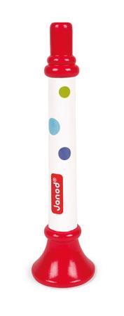 Trąbka drewniana Confetti opakowanie zbiorcze 12 sztuk, Janod