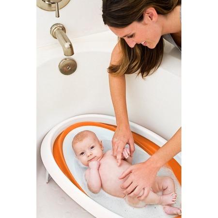 Wanienka dla niemowlaka - składana na płasko wanna do mycia niemowląt Orange, BOON