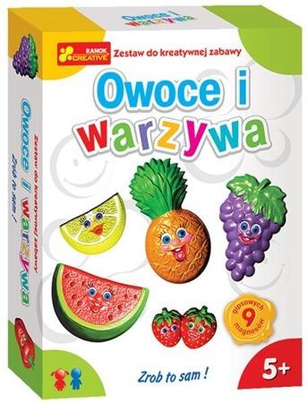 Warzywa i owoce magnesy - odlewy gipsowe zestaw dla dzieci, 5 lat +, RANOK-CREATIVE