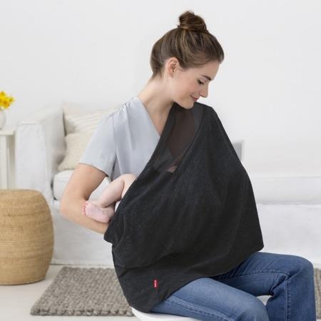 Wielofunkcyjny szal - okrycie do karmienia niemowlaka Black Heather, SKIP HOP