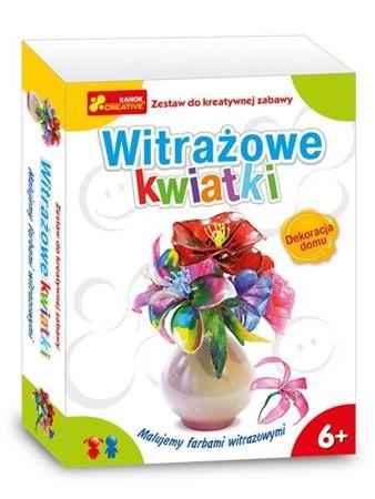 Witrażowe kwiatki - DIY dla dzieci. Plastyczne bukiety, kwiaty. Ranok-Creative.