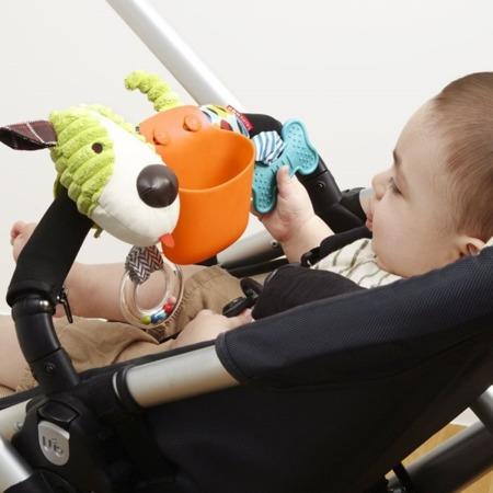Zabawka do wózka dla niemowlaka Piesek 2w1 - pojemnik na przekąski, SKIP HOP 185602