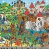 Puzzle - obserwacja, motywem zamku rycerskiego i rycerzy, DJECO DJ07559