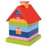 Drewniany domek do układania na patyku Willa - zestaw drewnianych klocków, GOKI